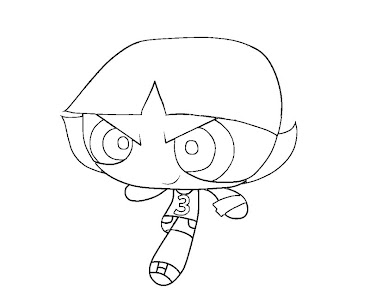 #4 Buttercup Coloring Page