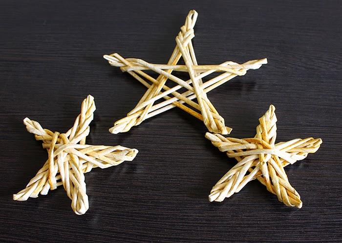 звезды из бумажной лозы