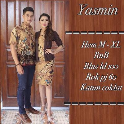 Baju Sarimbit Batik Pasangan Yasmin Coklat