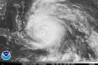 >Bahamas likely to bear brunt of Powerful Hurricane Irene over next 36-hours as she grows into dangerous Cat 3 storm