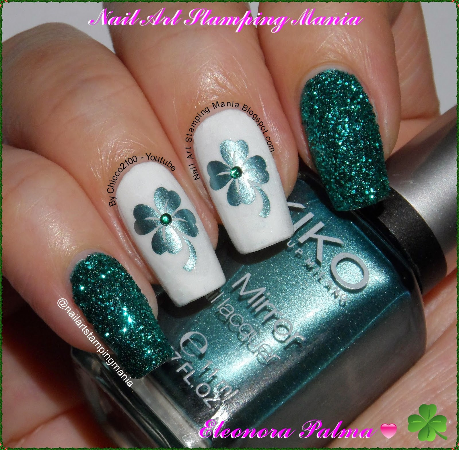 Nail Art Stamping Mania: St Patric\'s Day Manicure With UberChic ...