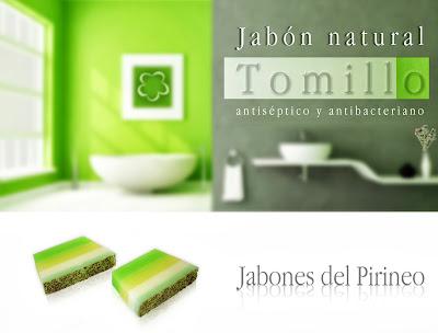 Jabón Natural de Romero, Tomillo y Hierbabuena