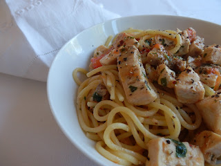 Spaghetti with Swordfish