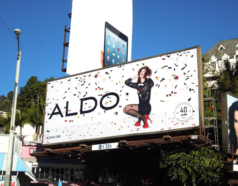 Aldo Shoes ticker tape billboard