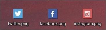 icones twitter facebook instagram