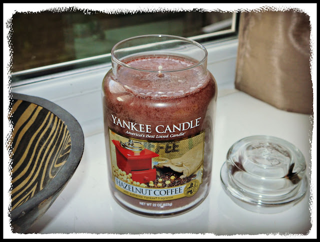 candle, coffee