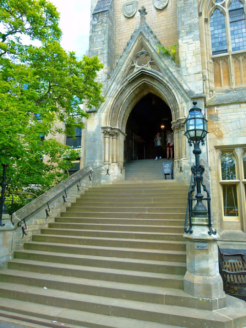 Balliol, hall steps