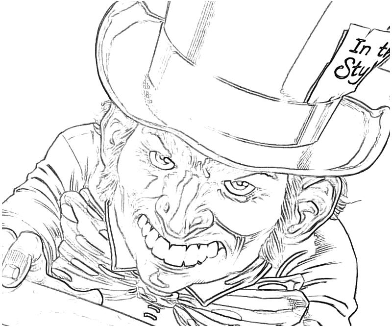 mad hatter coloring pages - photo#25