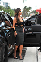 Kim Kardashian arriving at Prime 112 restaurant