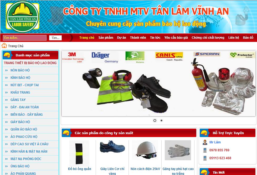 Template Blogspot Bảo Hộ Lao Động, Theme Blogger Giới Thiệu Sản Phẩm Công Ty