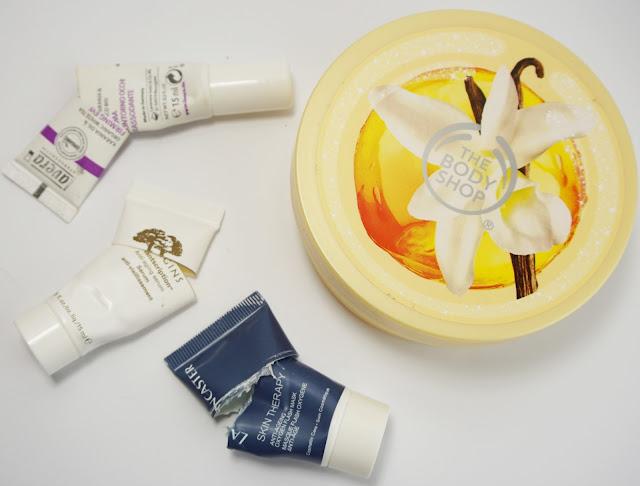 Aufgebrauchte Kosmetik Juli / August 2015 Lavera, Origins, Lancester, The Body Shop
