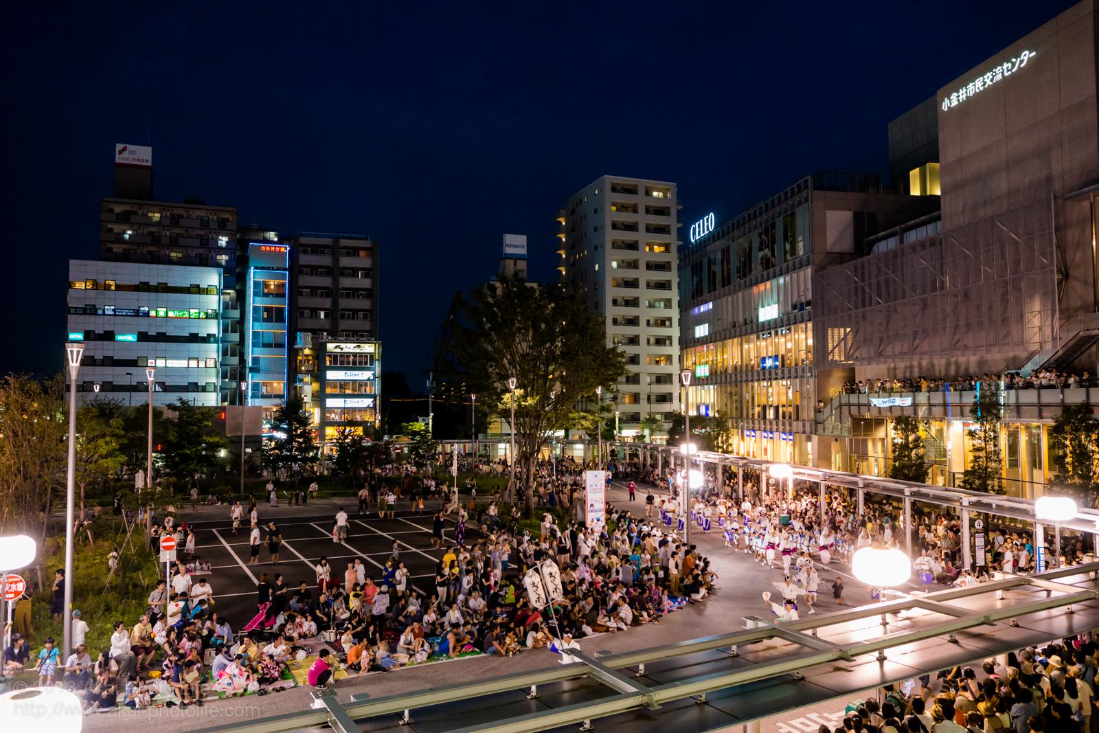 南口駅前広場会場の写真