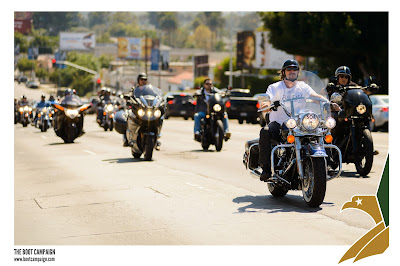The Cast of SOA riding for The Boot Campaign