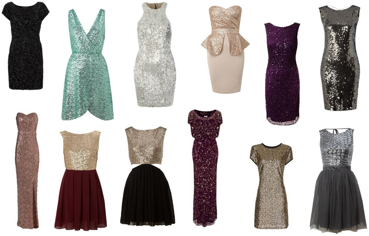 sequined dresses with paillettes