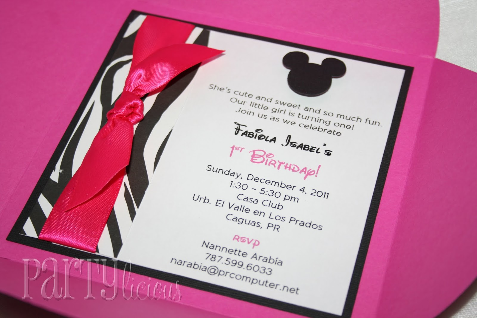 Partylicious Events PR Second Take Minnie Mouse Zebra Birthday