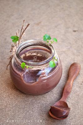 Puding Susu Kedelai Coklat