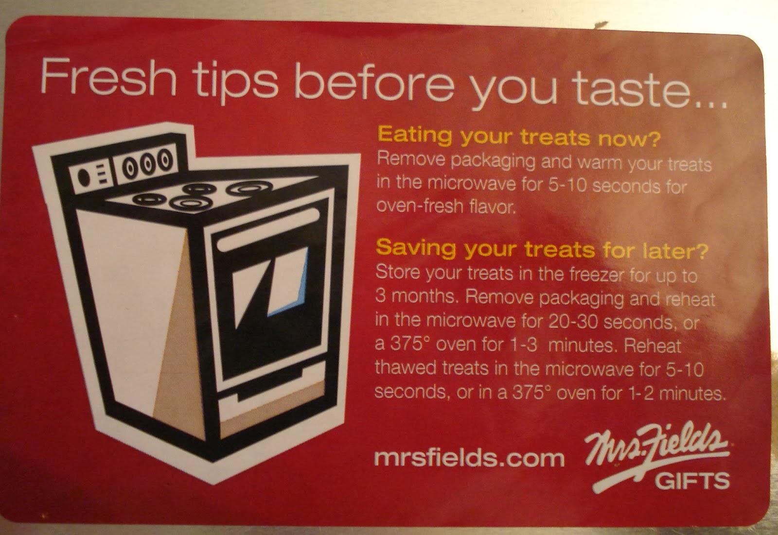 Mrs. Fields Tips