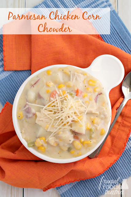 ... Parmesan cheese takes the traditional corn chowder to a whole other