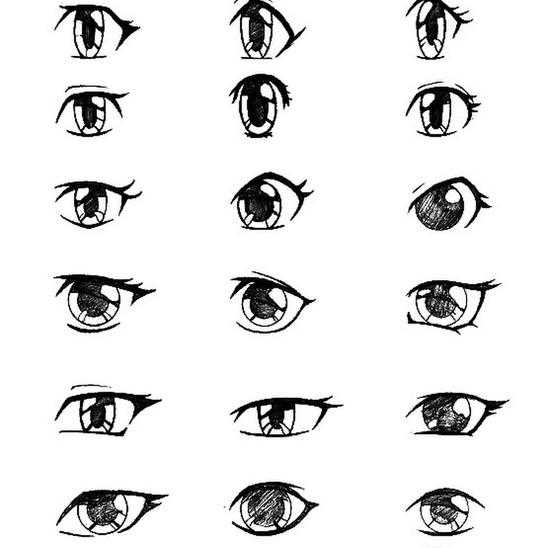 How To Draw Girl Manga Eyes Step By Step Tinambarber Info