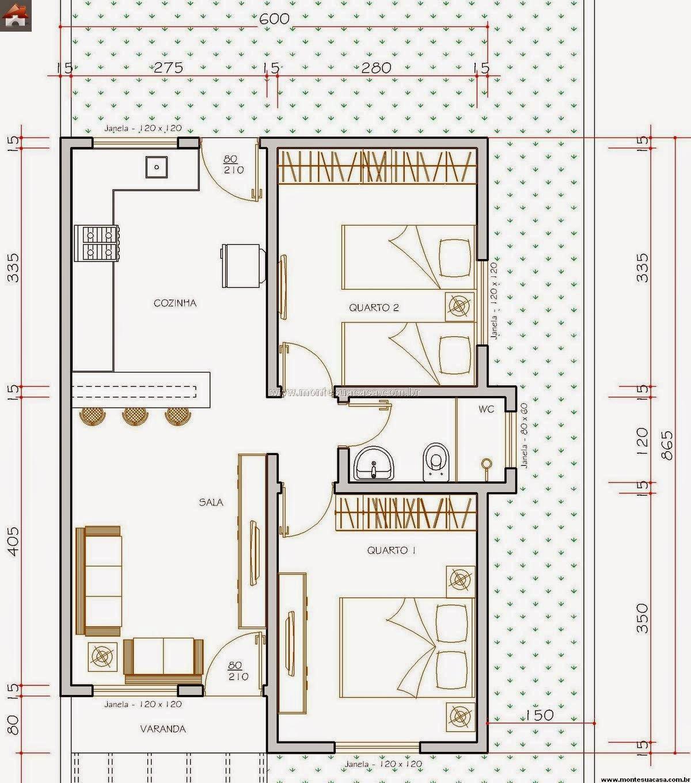 Tamanho da casa: 6 4 metros de frente x 8 65 metros de fundos #9A3D31 1200 1360