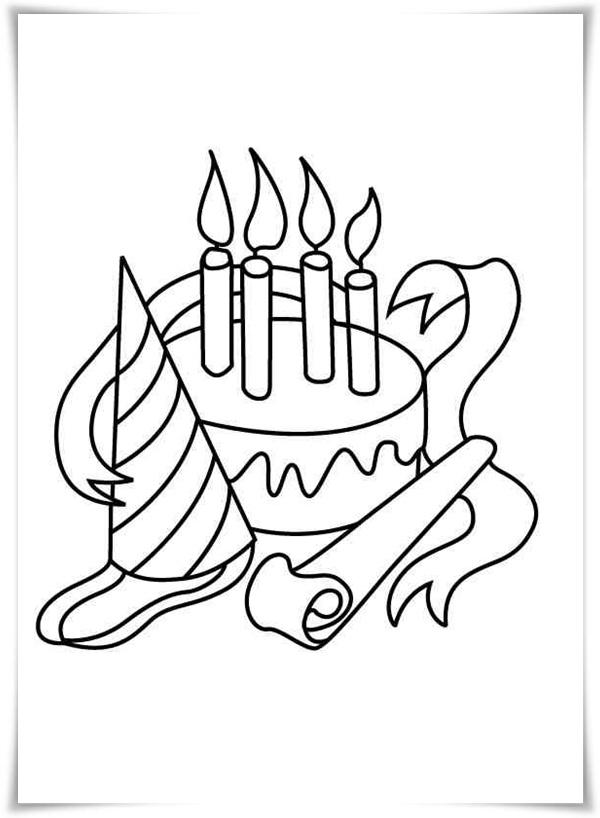 Kostenlose Ausmalbilder und Malvorlagen: Geburtstag zum  - Kostenlose Ausmalbilder Geburtstag