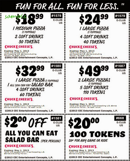 image relating to Chuck E Cheese Coupon Printable titled Printable discount codes for chuck e cheese 100 tokens / Staples