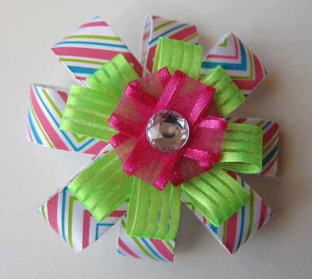 homemade cheerleading hair bow, cheer leading, cheer