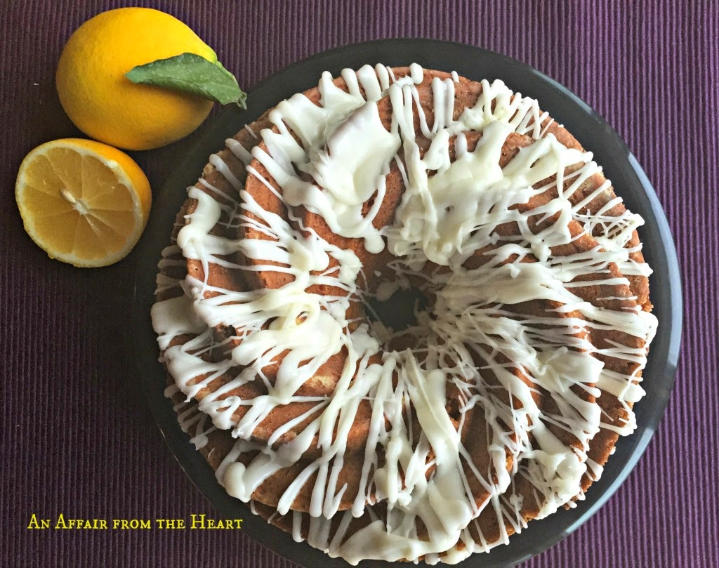 Most Popular Recipe of the Week | Lemon Rhubarb Bundt Cake from An Affair From the Heart #recipe #SecretRecipeClub #lemon #rhubarb #dessert #cake #bundt