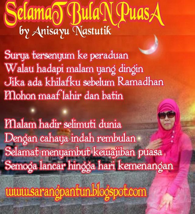 Pantun Menyambut Bulan Suci Puasa Ramadhan Tiba