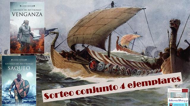 Sorteo conjunto pack Los hijos del rey vikingo de Lasse Holm