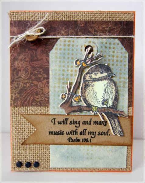 ODBD You Will Find Refuge, Chickadee Die, Customer Card of the Day by Connie Griffin