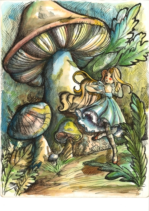 05-Alice-in-Wonderland-Isis-Marques-Drawings-and-Paintings-with-WIP-and-Videos-www-designstack-co