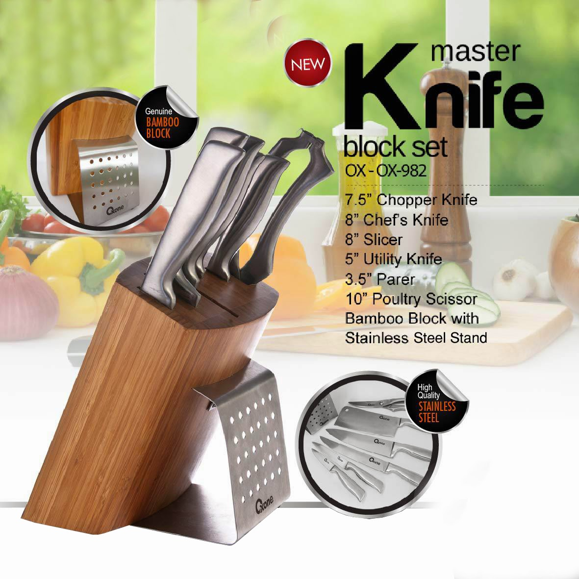 Dapur Oxone Perlengkapan Rumah Tangga October 2014 Deep Fryer Penggorengan Listrik Kode Ox989 Ox 982 Master Knife Block Set