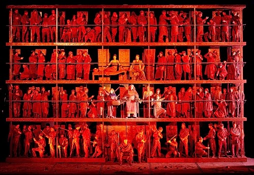 Enescu's Oedipe at Teatro Colon,  directed La Fura del Baus (photo Teatro Colon)