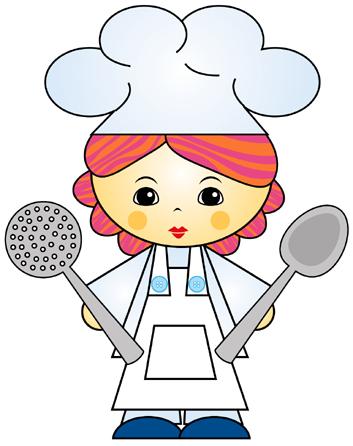 Cocinera dibujo imagui for Dibujo de comedor escolar