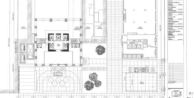 Floor plan showing street level of the site