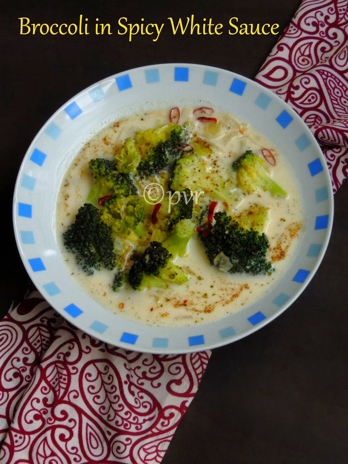 Broccoli in spicy white sauce