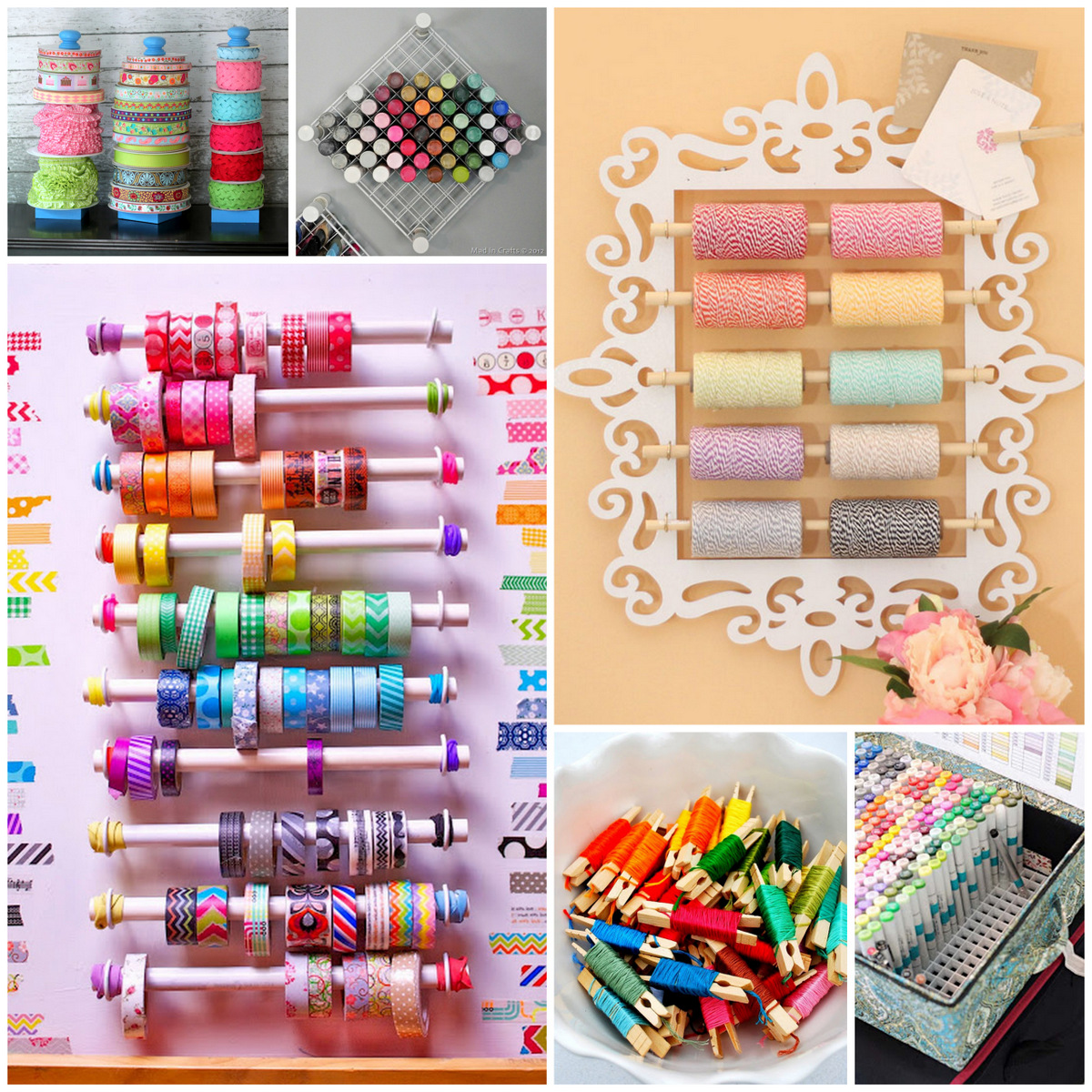 Six For Saturday Or Sunday: DIY Craft Supply Storage Ideas