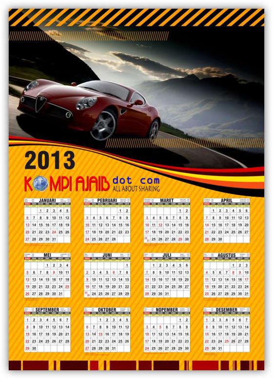 Template Kalender 2013 Indonesia Lengkap v2