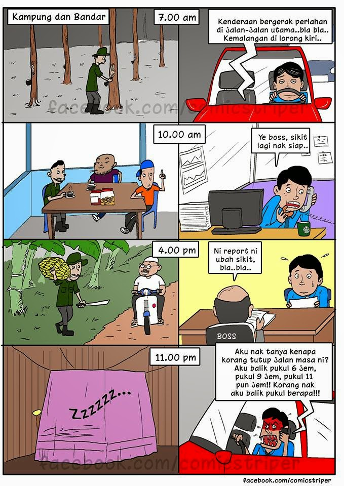 Kampung vs Bandar