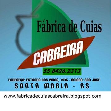 FÁBRICA DE CUIAS CABREIRA - NOVO TELEFONE 55 84262313 /55  3226.3037