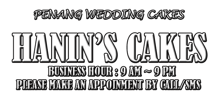 Penang Wedding Cakes - Hanin's Cakes