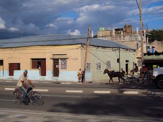 Santiago de Cuba street bikes and horses