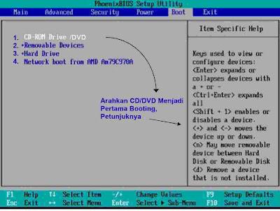 instalasi windows 7 setup menu ke CD