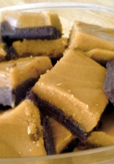 Easy Chocolate Peanut Butter Fudge Recipe. Double layer of creamy sweets for comfort snacking.