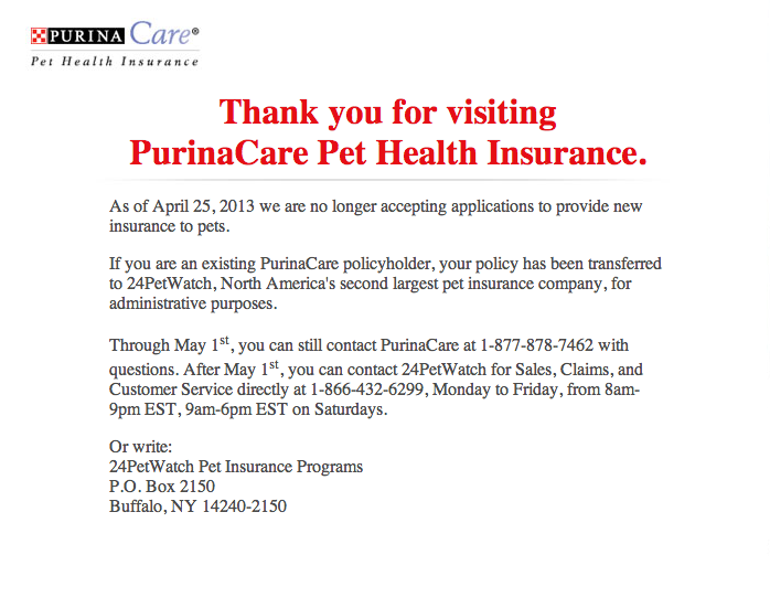 pet insurance quotes blog purinacare pet health insurance is done