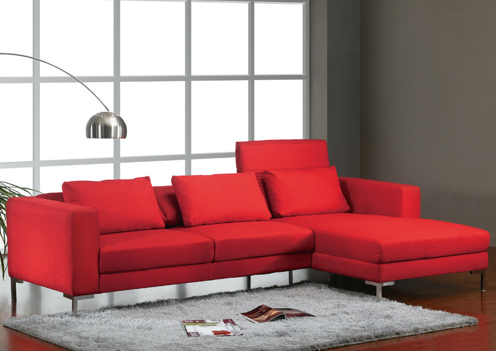 Como combinar un sof rojo casas ideas for Objetos para decorar la sala