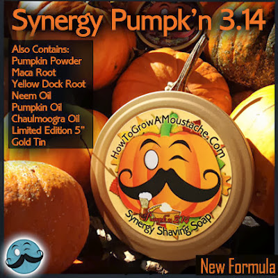 How to Grow a Moustache Synergy Pumpk'n 3.14 Shave Soap info