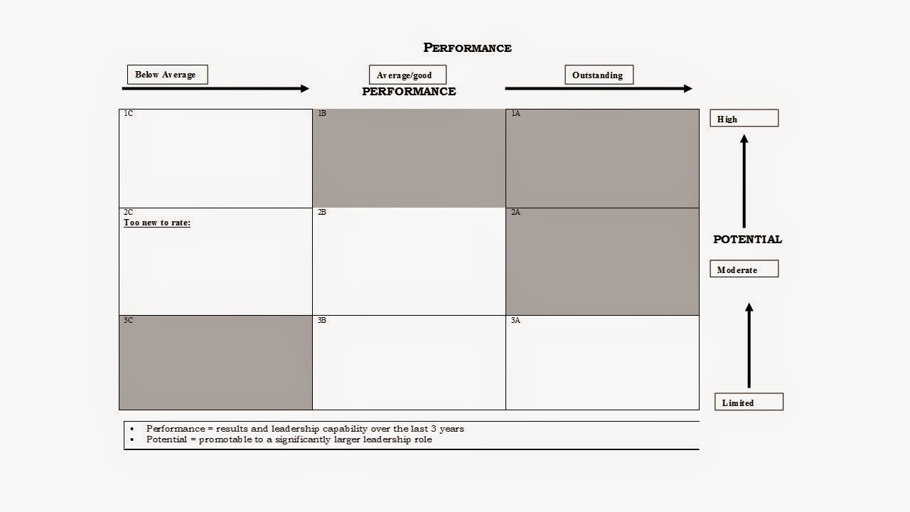 Great Leadership: The Performance and Potential Matrix (9 Box Model ...