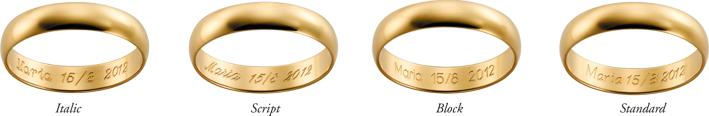 vad graverar man i förlovningsring